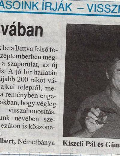 2003. Napló Újra van rák a Bitvában