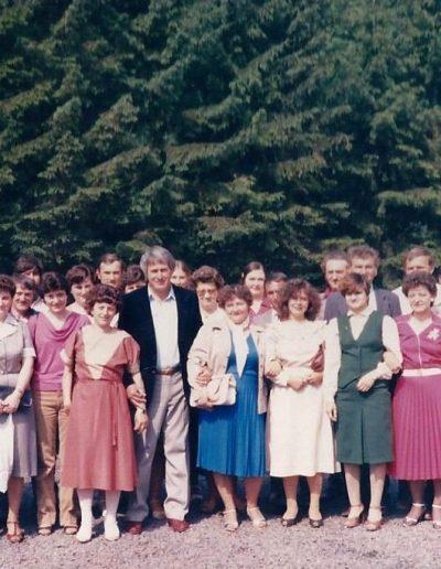 Kiss Albert diákjaival 2000-ben