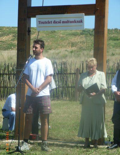 Dr. Ősi Attila az iharkúti falutalálkozón