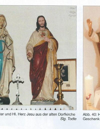 A kápolna szobrai